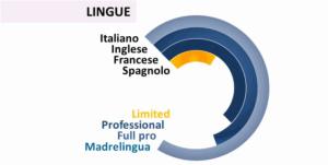 Dal Curriculum vitae di Ettore Iannella la conoscenza delle lingue straniere