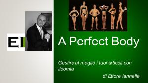 Perfect Body con Joomla by Ettore Iannella