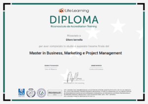 Ettore Iannella: Master in Business, Marketing e Project Management