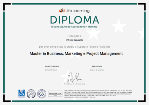 Master in Business, Marketing e Project Management